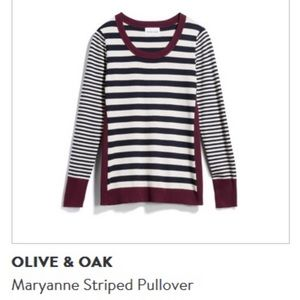 Olive & Oak Maryanne Striped Pullover
